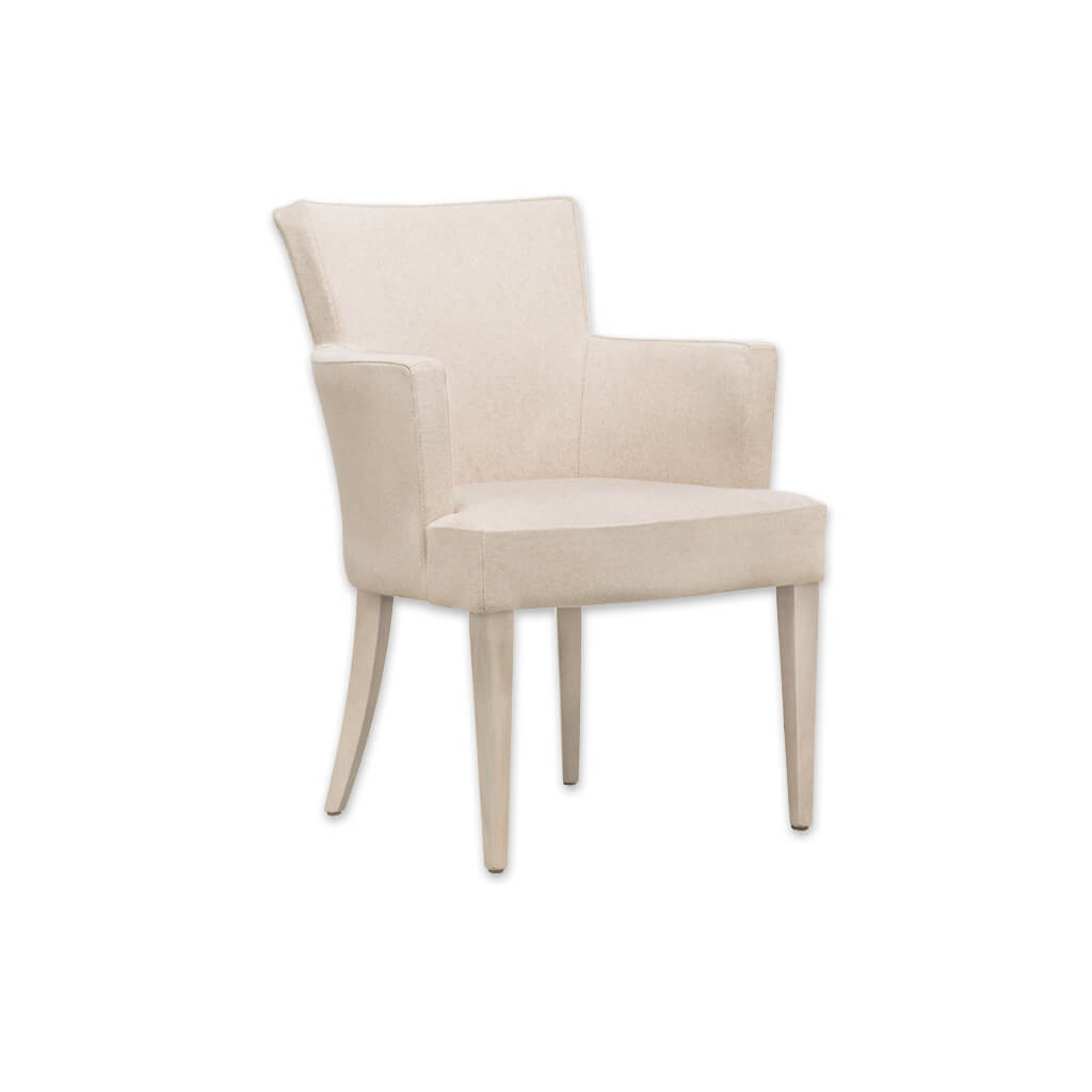 Evelyne Fully Upholstered Beige Tub Chair With Winged Backrest PO01 TC2 - Designers Image