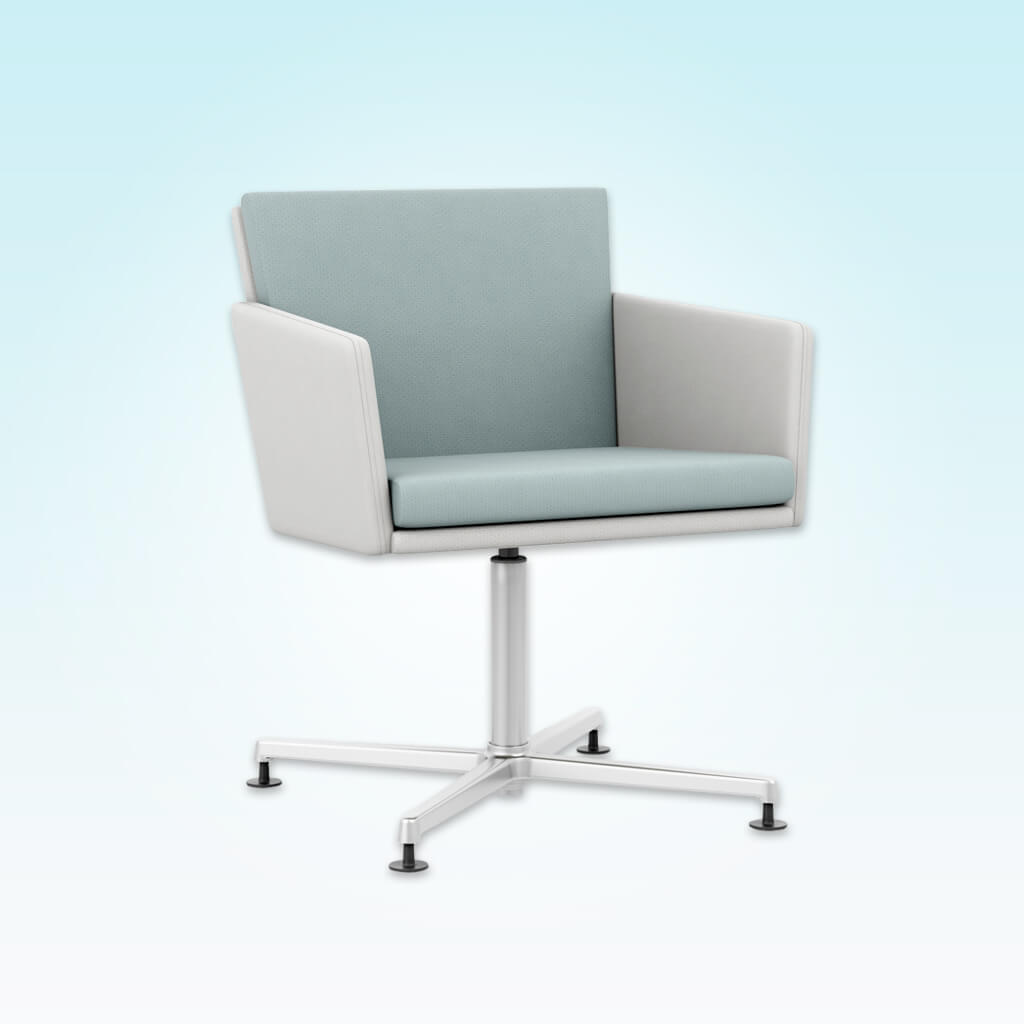 Florida Angular White Desk Chair with Four Star Base 5016 DC1