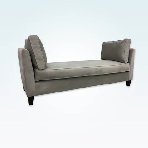 Francis grey chaise longue sofa double ended with deep removable cushions and wooden tapered feet 14001 CL1