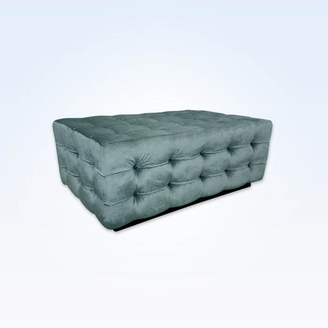 Freda grey ottoman fully upholstered and padded with deep buttoning 10001 OT1