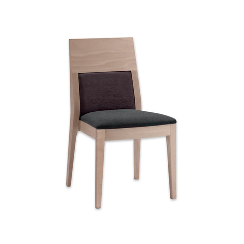 Fusion Brown Upholstered Dining Chair with Wooden Frame Grab Rail 3031 RC1