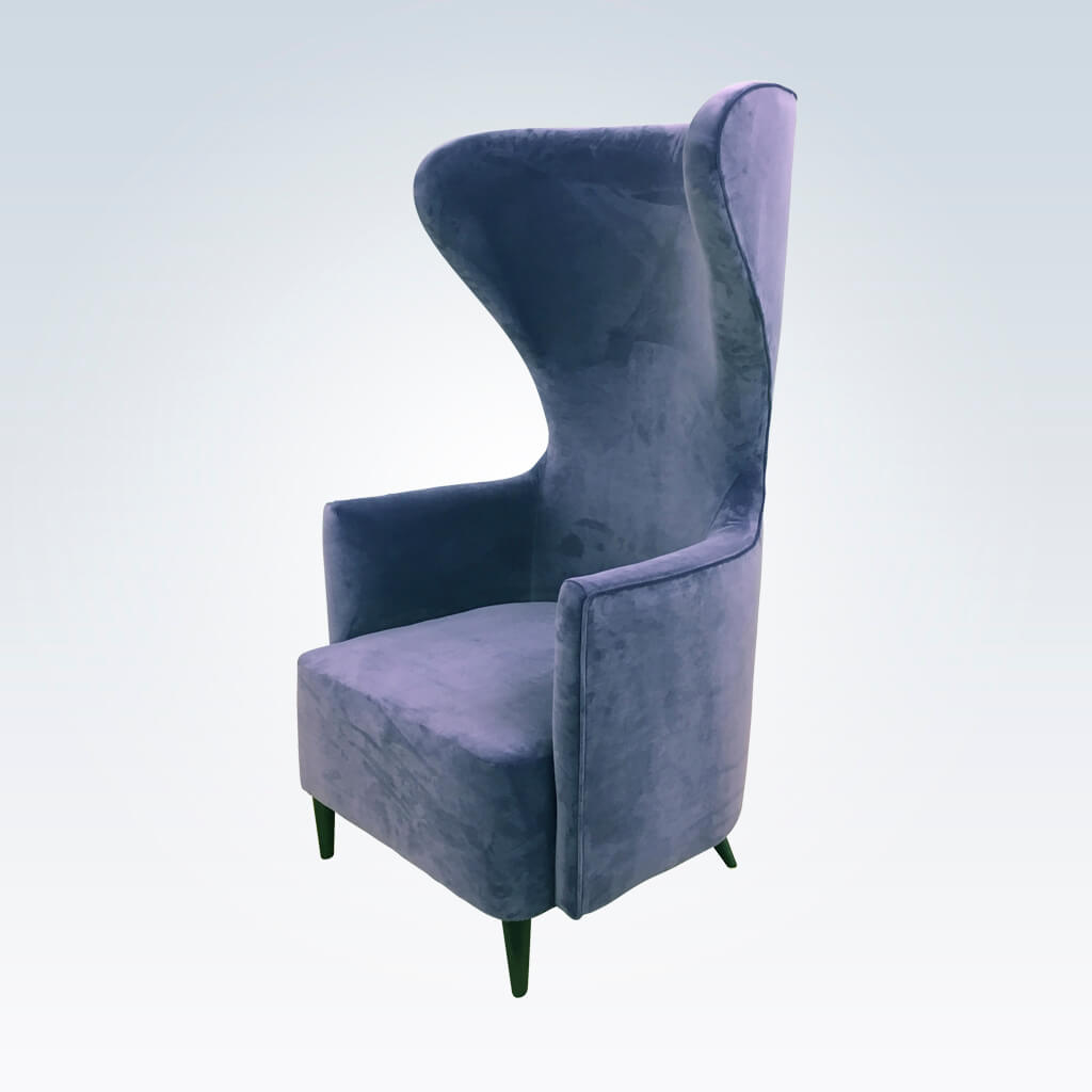 Gabriella lilac accent chair with high curved backrest and deep padded cushion 7007 AT1
