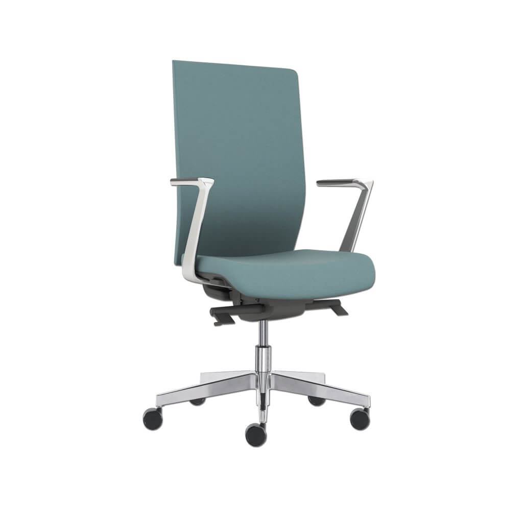 Gibbs Highback Green Swivel Desk Chair with Armrests and Fivestar Swivel Base 5019 DC1 - Designers Image