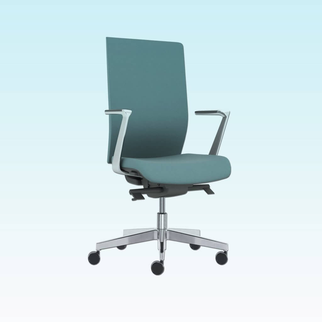 Gibbs Highback Green Swivel Desk Chair with Armrests and Fivestar Swivel Base 5019 DC1