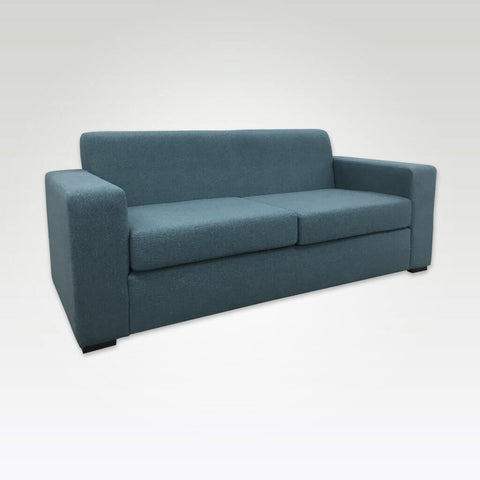 Igi light blue sofa bed with deep square arm rests and deep foam seat cushions 9007 SB1