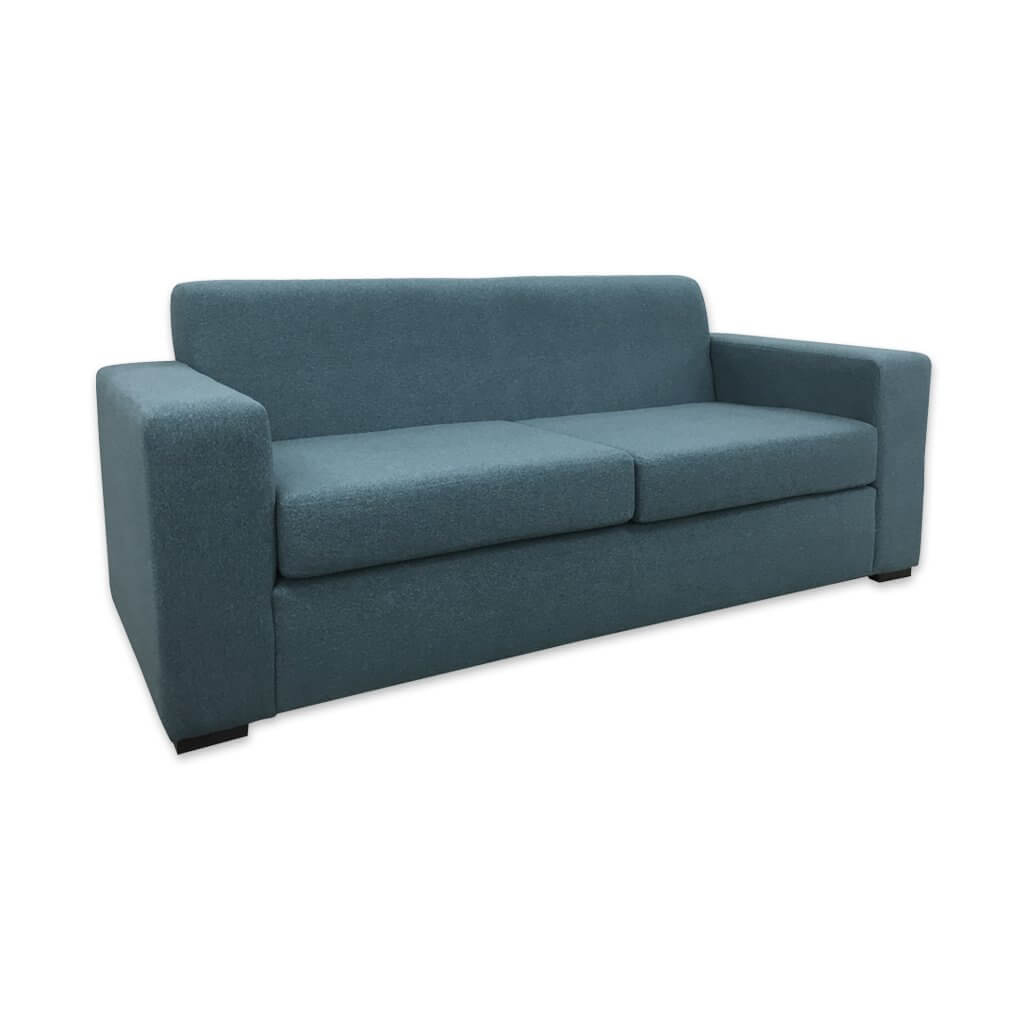 Igi light blue sofa bed with deep square arm rests and deep foam seat cushions 9007 SB1 - Designers Image