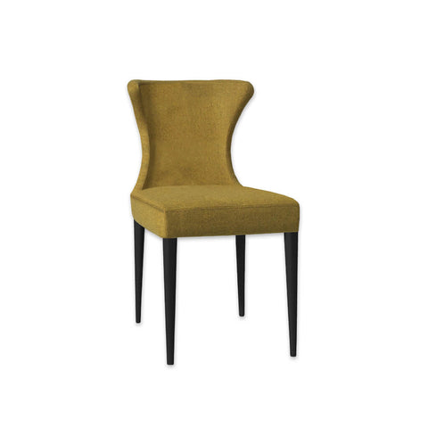 Iowa Fully Upholstered Mustard Fabric Dining Chair with Subtle Wing Back 3021 RC1