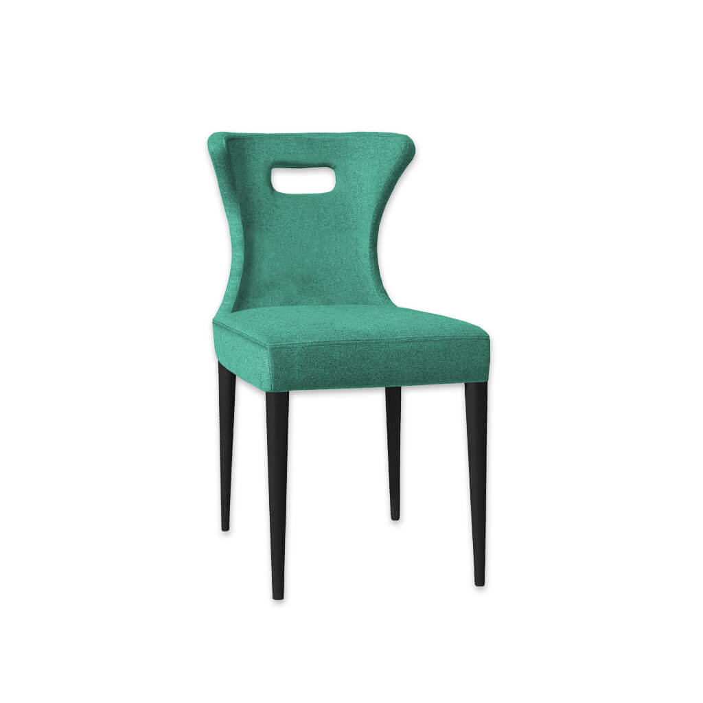 Iowa Mint Green Dining Chair with Cut Out Handle Back Detail 3021 RC2 - Designers Image