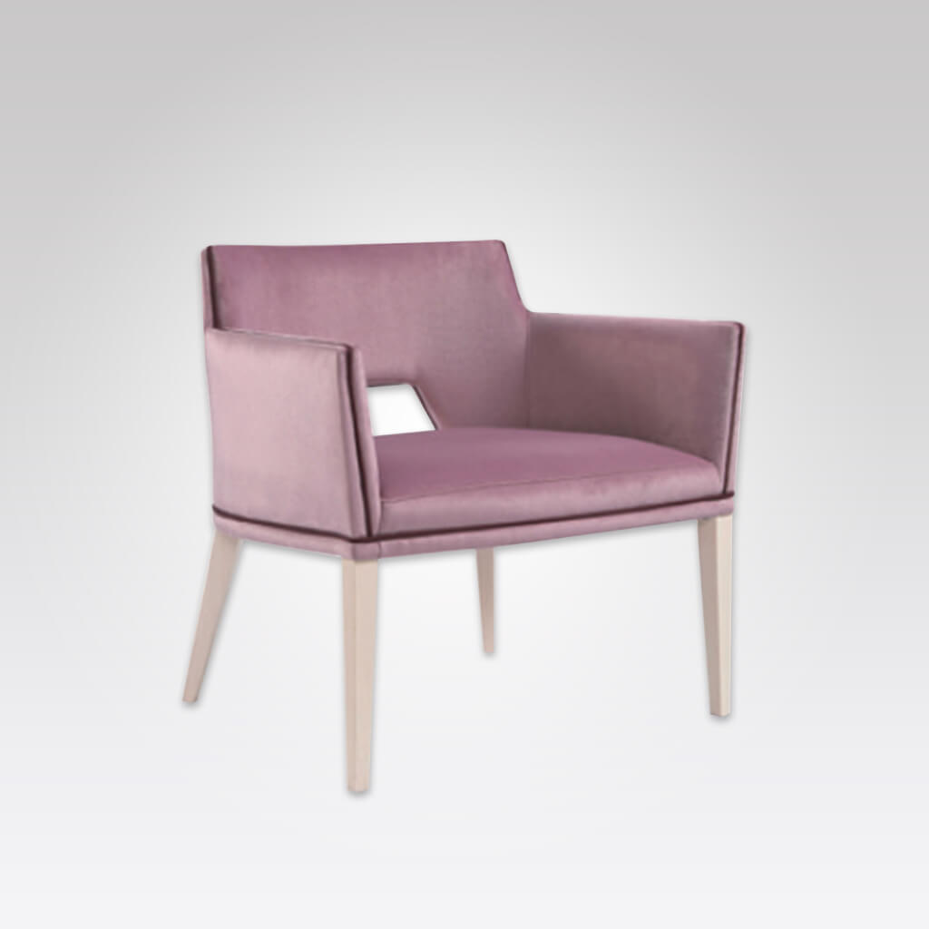 Jade Pink Lounge Chair with Back Detail 1068 LC2