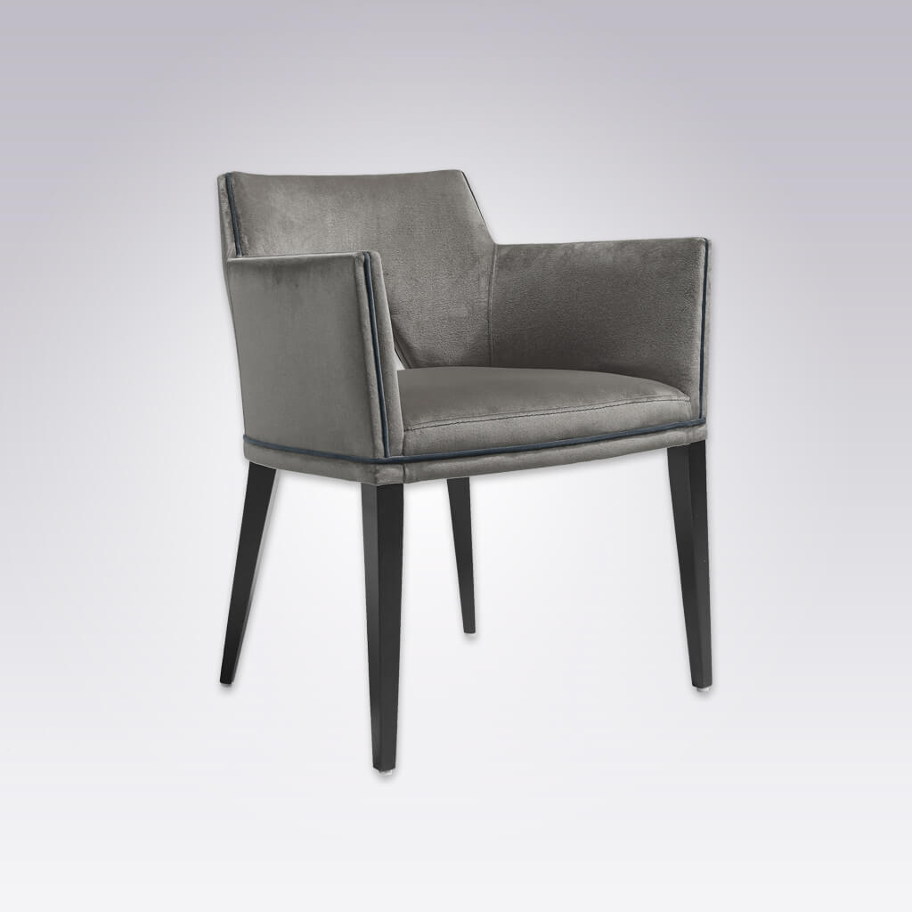 Jade Dark Grey Geometric Retro Dining Chair with Cut Out Back Detail 4020 AC1