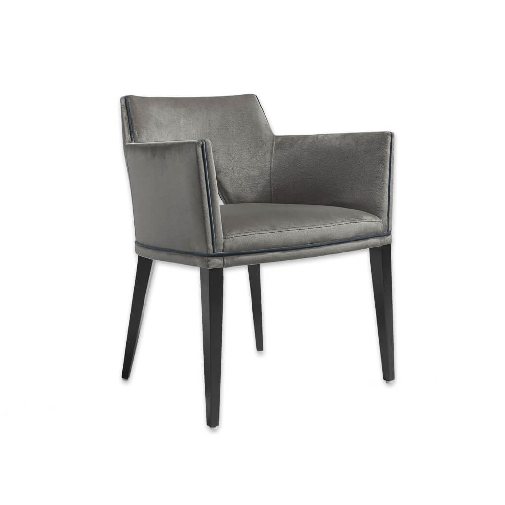 Jade Dark Grey Geometric Retro Dining Chair with Cut Out Back Detail 4020 AC1 - Designers Image