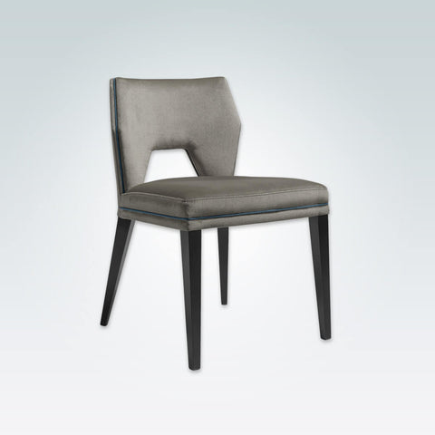 Jade Armless Grey Dining Chair with Cut Out Back Detail 3039 RC1