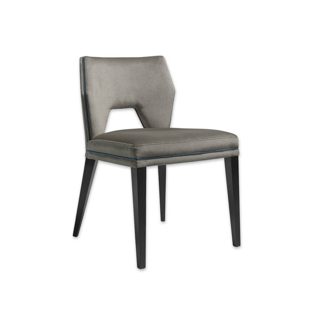 Jade Armless Grey Dining Chair with Cut Out Back Detail 3039 RC1 - Designers Image