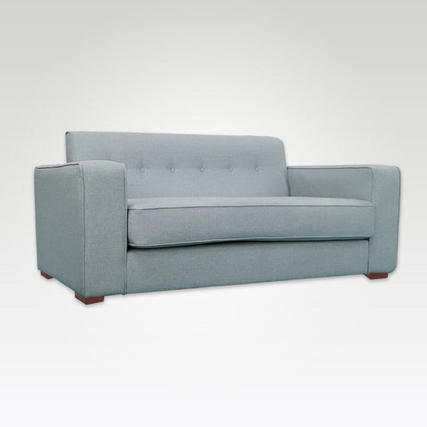 Jaffe classic light grey sofa bed with wide armrests and deep foam seat cushions 9001 SB1