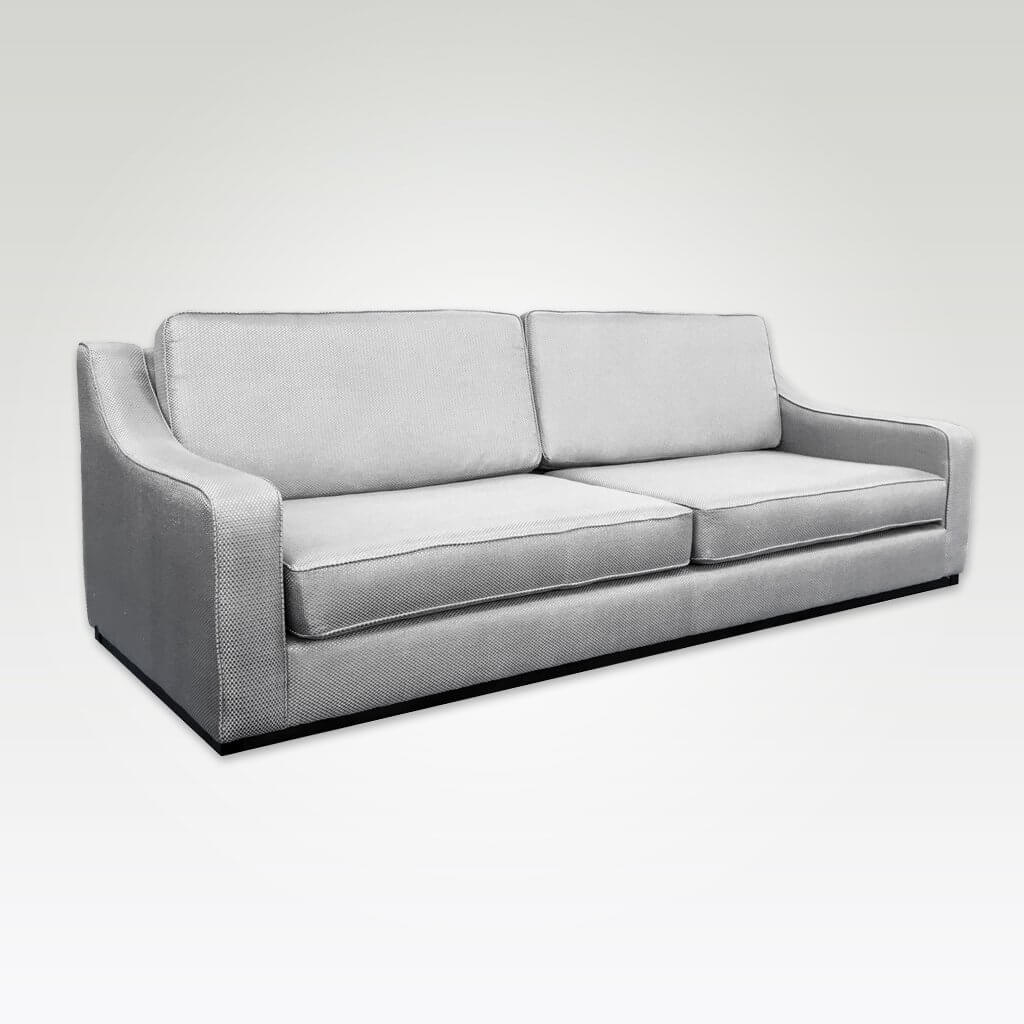 Jena contemporary silver grey sofa bed with sloping arm rests and deep padded cushions to the seat and backrest 9009 SB1