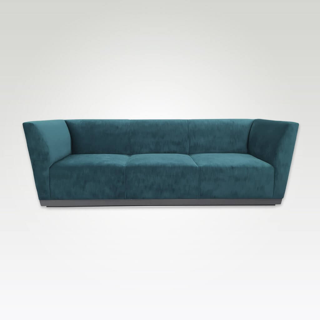 Jodi trendy blue 3 seater sofa bed with splayed arm rests and deep seat cushions 9004 SB1