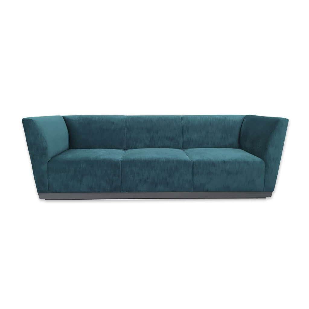 Jodi trendy blue 3 seater sofa bed with splayed arm rests and deep seat cushions 9004 SB1 - Designers Image