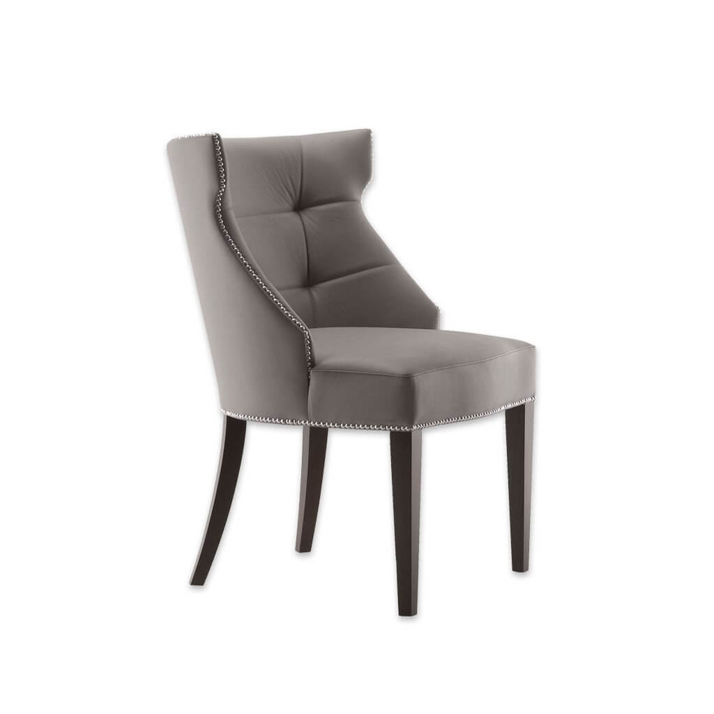 Joule  Fully Upholstered Light Grey Armchair with Curved Back and Deep Button Detail 4013 AC1 - Designers Image