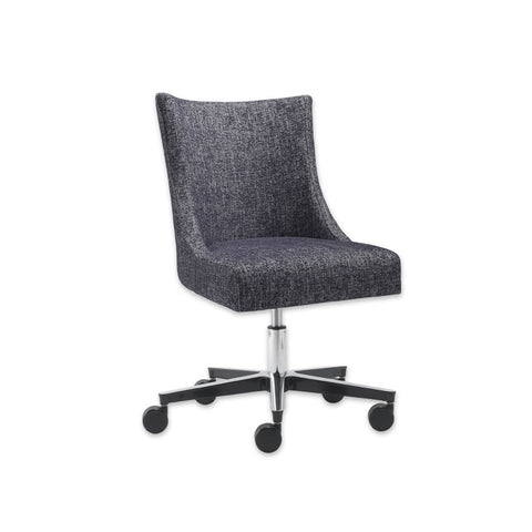Julianna Dark Grey Desk Chair with Sloped Armrests Adjustable Height and Castors 5011 DC1