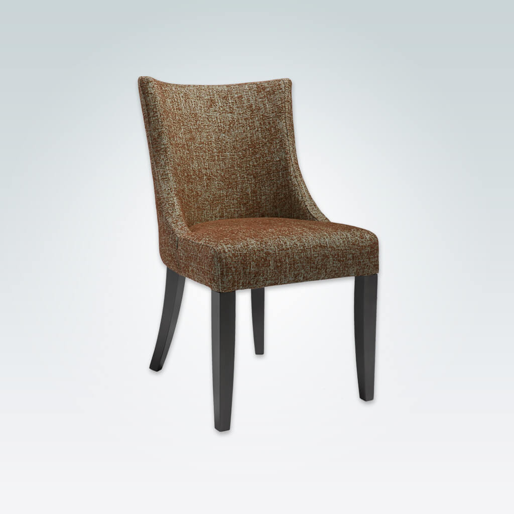 Julianna Fully Upholstered Patterned Dining Chair with Curved Back and Sweeping Lines 3063 RC1