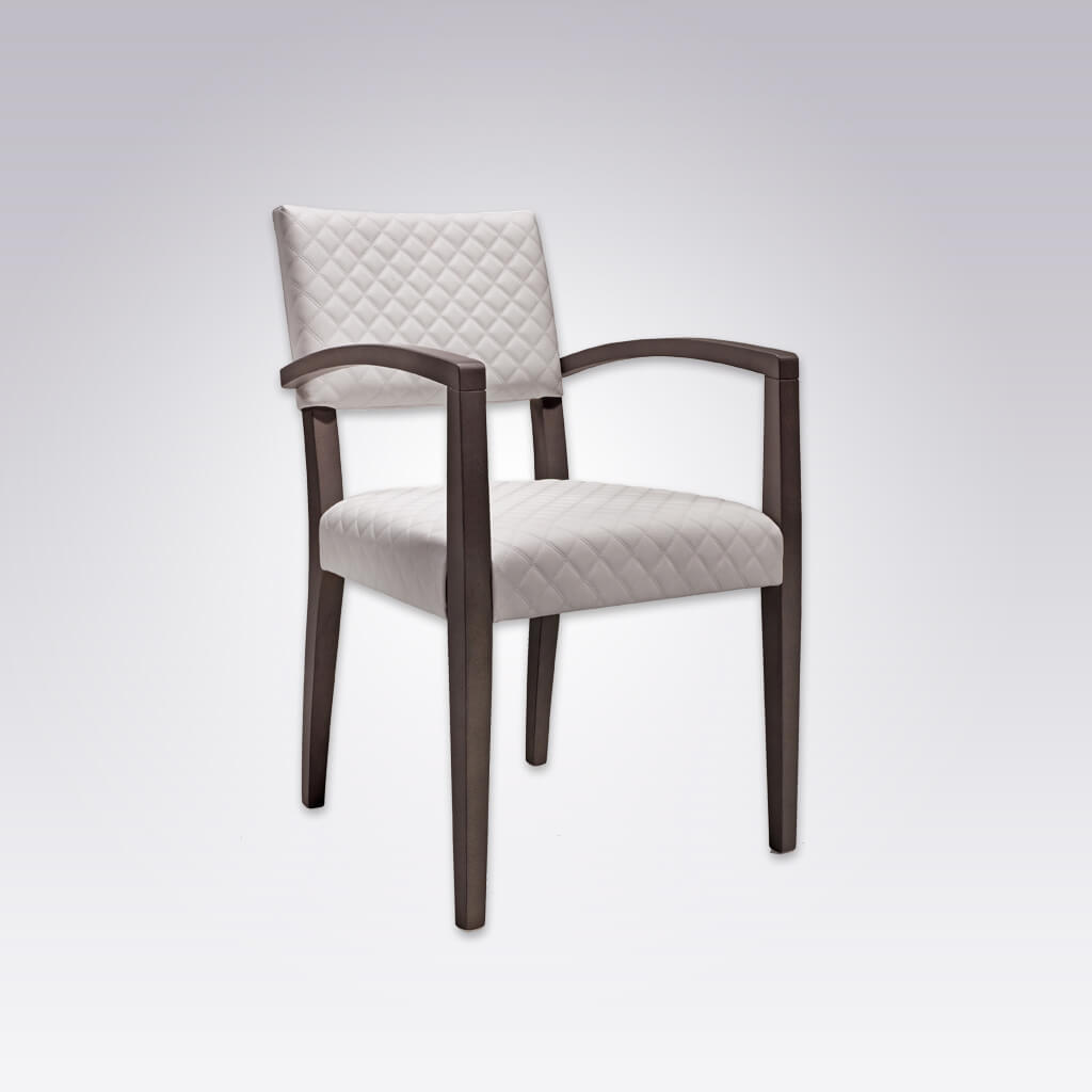 Keela White Armchair with Quilted Upholstered Seat and Back 4046 AC1