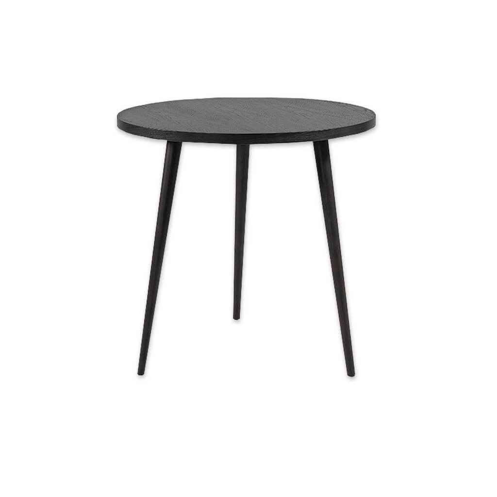 Kibi grey circle dining table with three conical legs and round top. 1160 - Designers Image