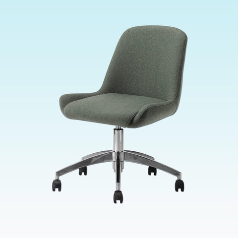 Kivi Dark Green Desk Chair with a Soft Curve Backrest and Five Star Base with Gaslift and Castors 5013 DC1