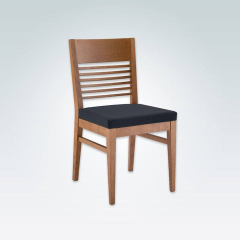 Leuven Wooden Dining Chair with Back Rail Detail Seat Pad and Parallel Strengthening Rails 3045 RC3