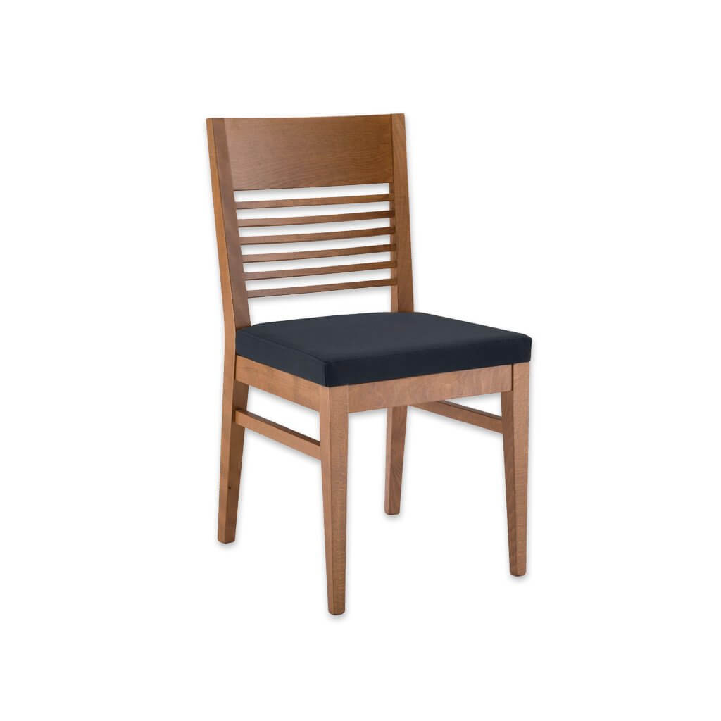 Leuven Wooden Dining Chair with Back Rail Detail Seat Pad and Parallel Strengthening Rails 3045 RC3 - Designers Image