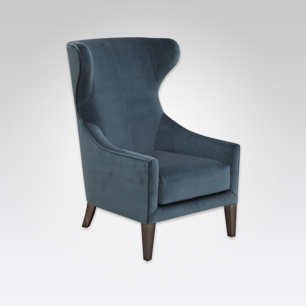 Lorien Wing Back Dark Blue Armchair with High Back and Optional Lumbar Cushion 1039 LC1