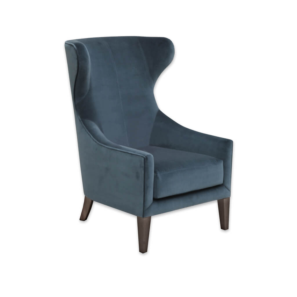 Lorien Wing Back Dark Blue Armchair with High Back and Optional Lumbar Cushion 1039 LC1 - Designers Image