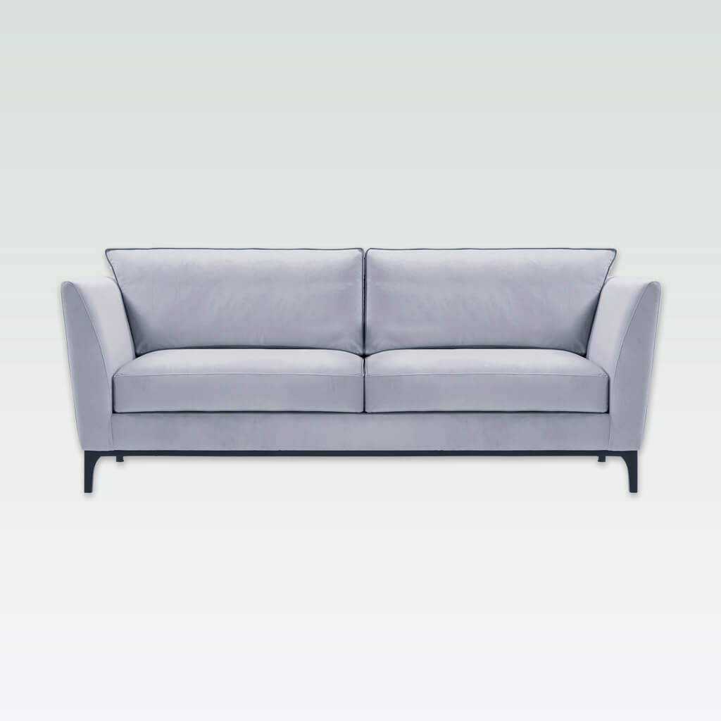 Grimaud light grey two seater sofa with deep padded cushions and tapered legs 8034 SF2