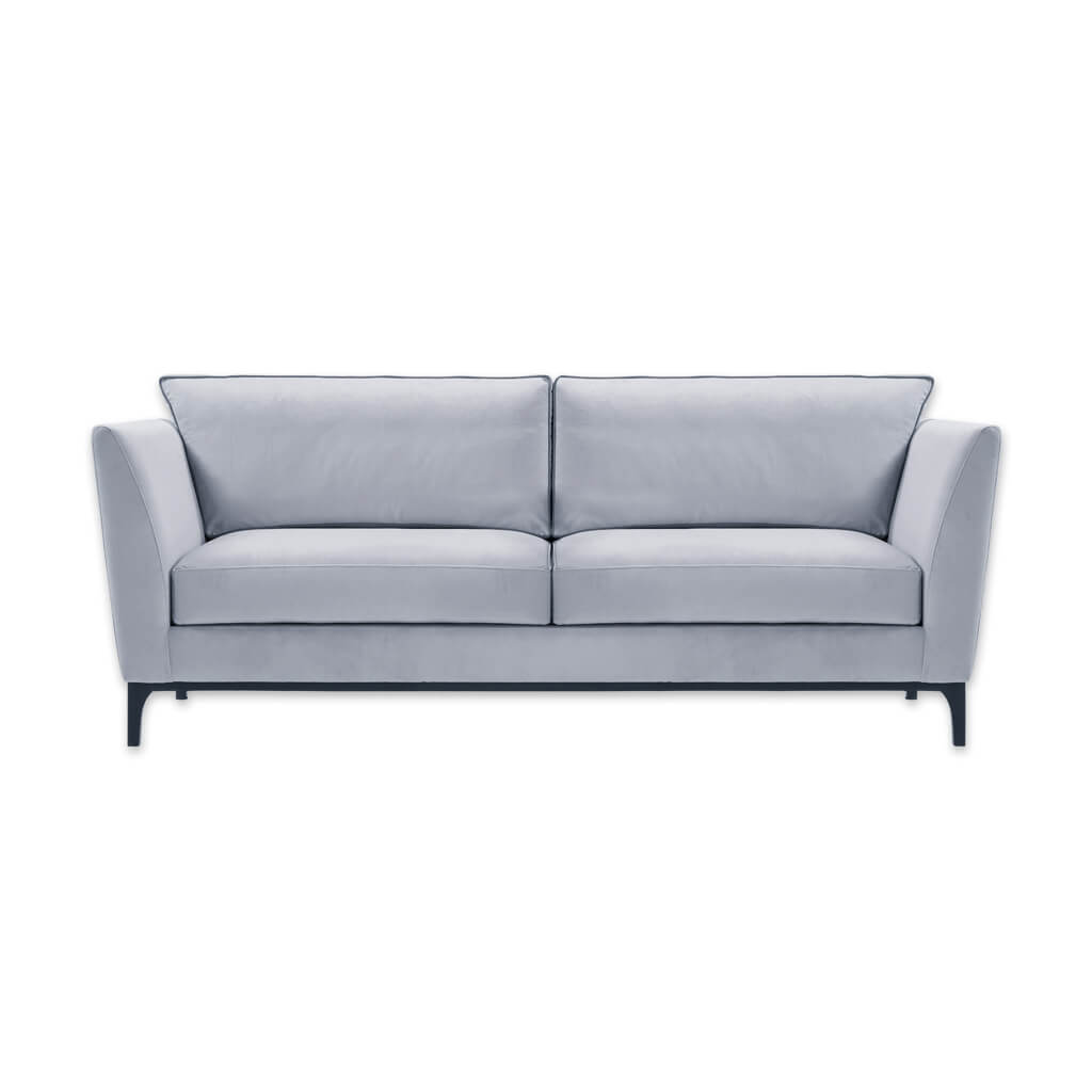 Grimaud light grey two seater sofa with deep padded cushions and tapered legs 8034 SF1 - Designers Image