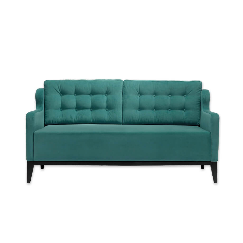 Lydia modern green sofa with angular arms, deep seat cushioning and buttoning to the backrest 8008 SF1 - Designers Image