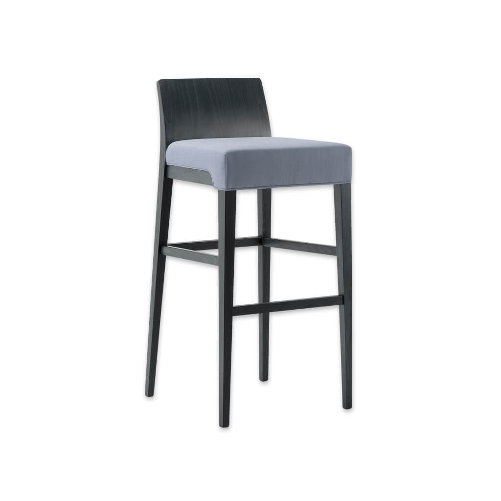 Madison purple bar stool with square seat and show wood back 6028 BR2 - Designers Image