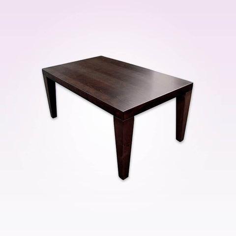 Maratha rectangle bar table with thick tapered legs. 1127