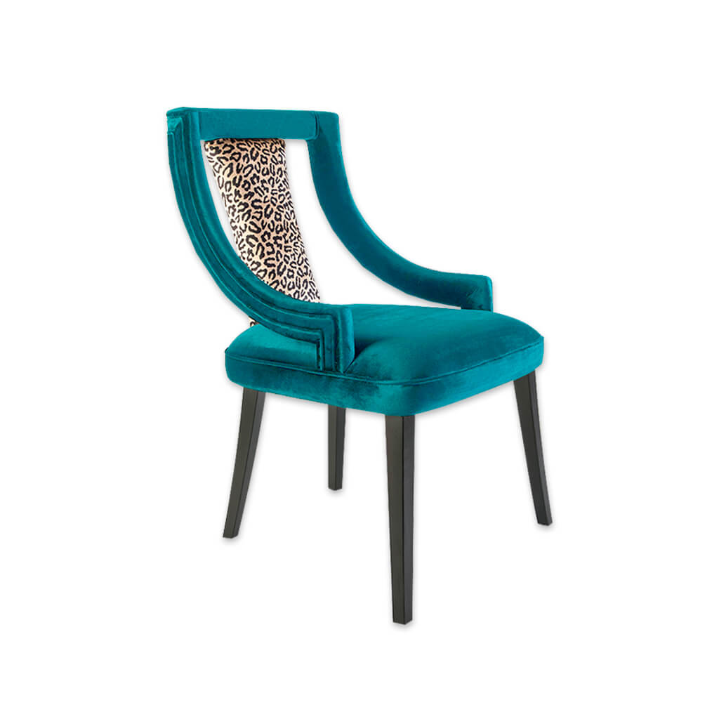 Marlu restaurant chair with back detail and timber frame 3084 RC1 - Designers Image