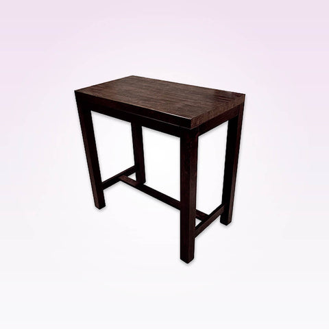 Masari dark brown rectangular dining table with t-bar underframe. 1128