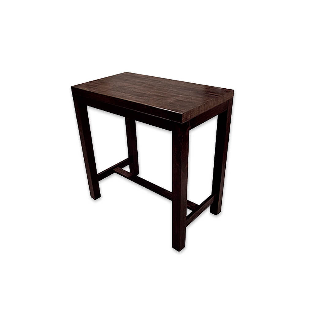 Masari dark brown rectangular dining table with t-bar underframe. 1128 - Designers Image