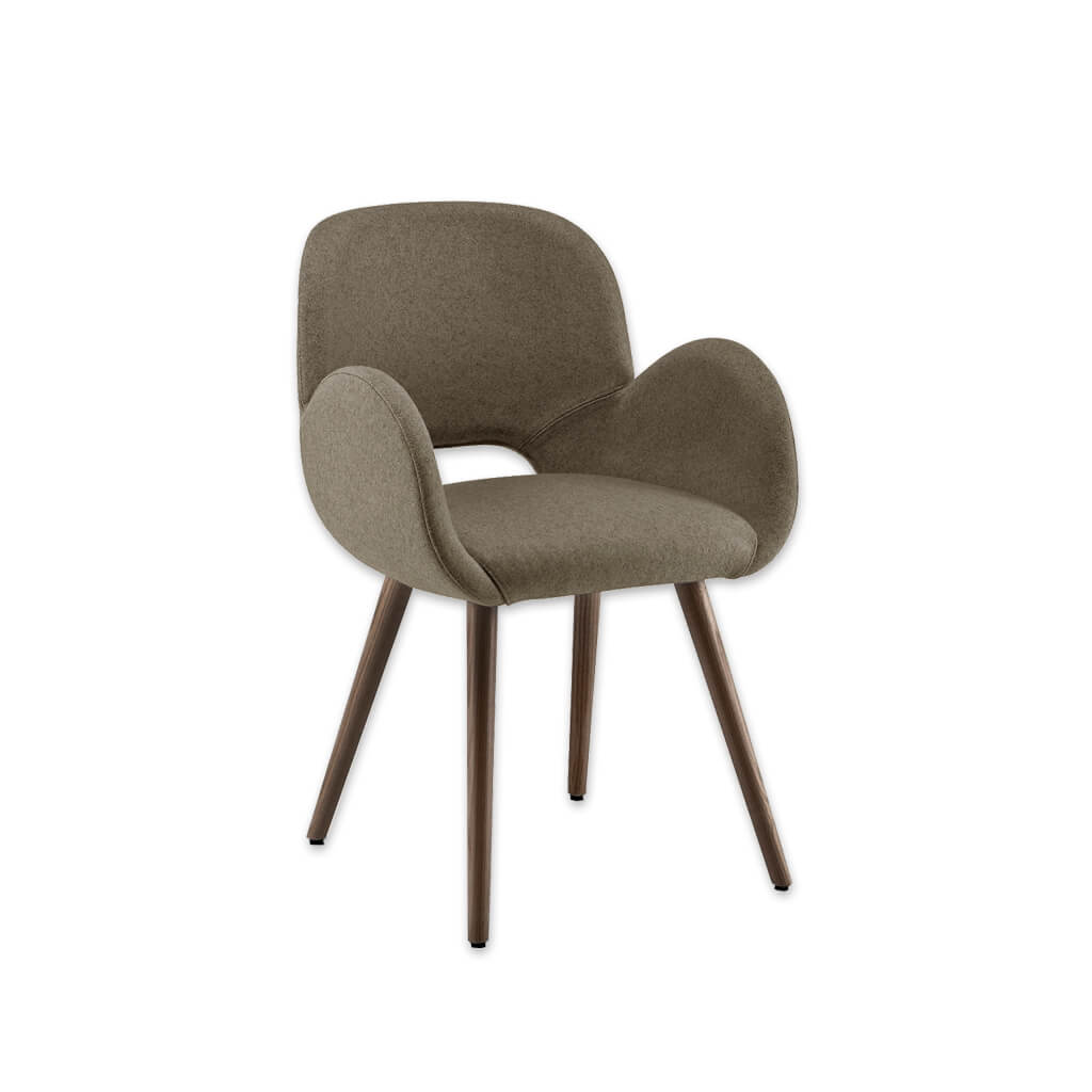 Mateo Rounded Sage Armchair with Keyhole Back and Conical Legs 4004 AC1 - Designers Image