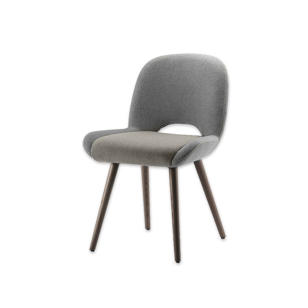 Mateo Grey Upholstered Dining Chair with a Curved Open Back 3011 RC1 - Designers Image