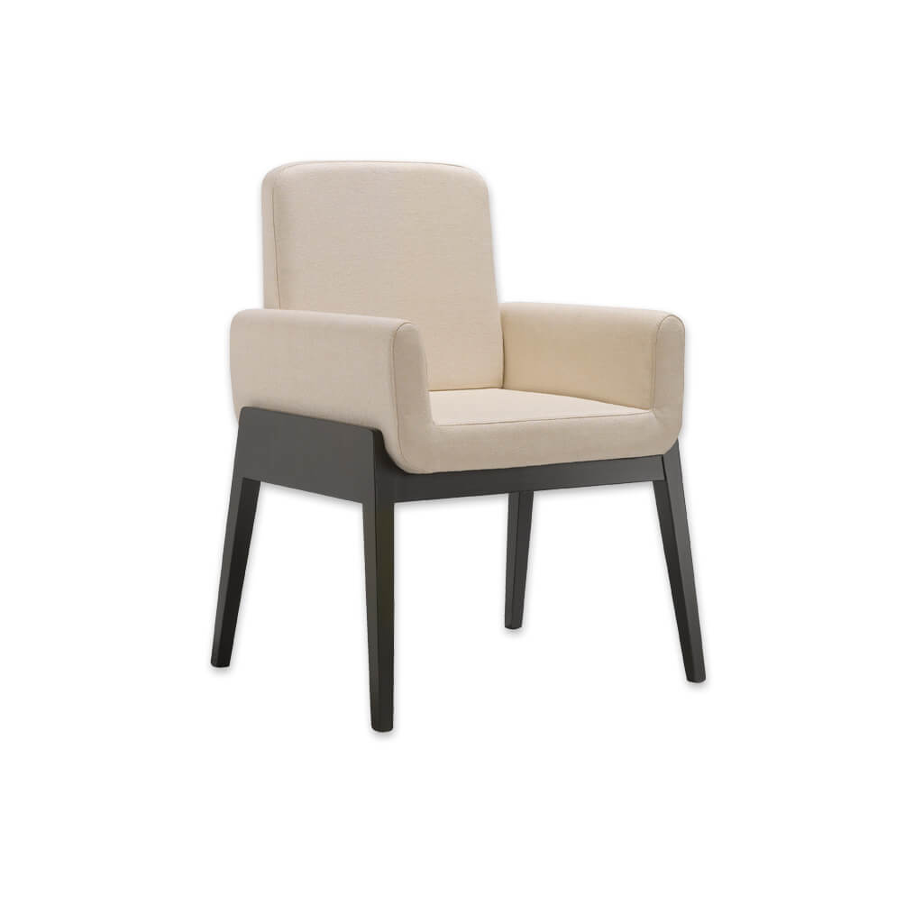 Mika Cream Tub Chair With Enroaching Armrests and Show Wood Detail 2033 TC1 - Designers Image