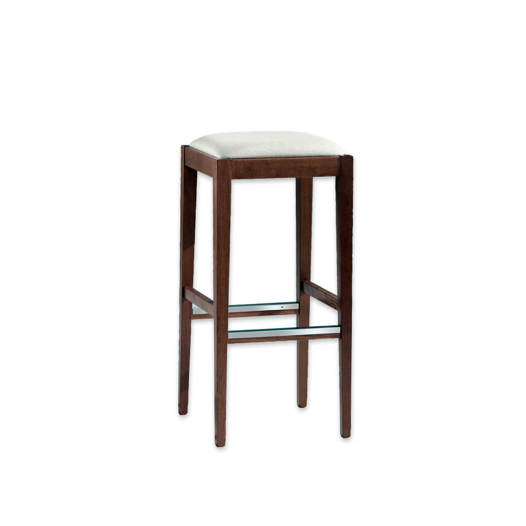 Mirna brown backless bar stools with cushioned seat and metal trim to the kick plate 6054 BR1 - Designers Image