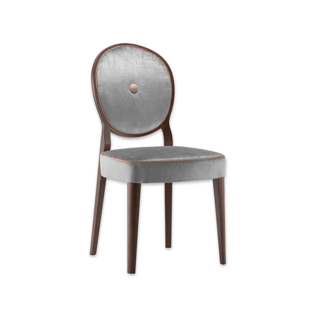 Monet Silver Velet Dining Chair with Balloon Back Design and Padded Seat 3072 RC1 - Designers Image