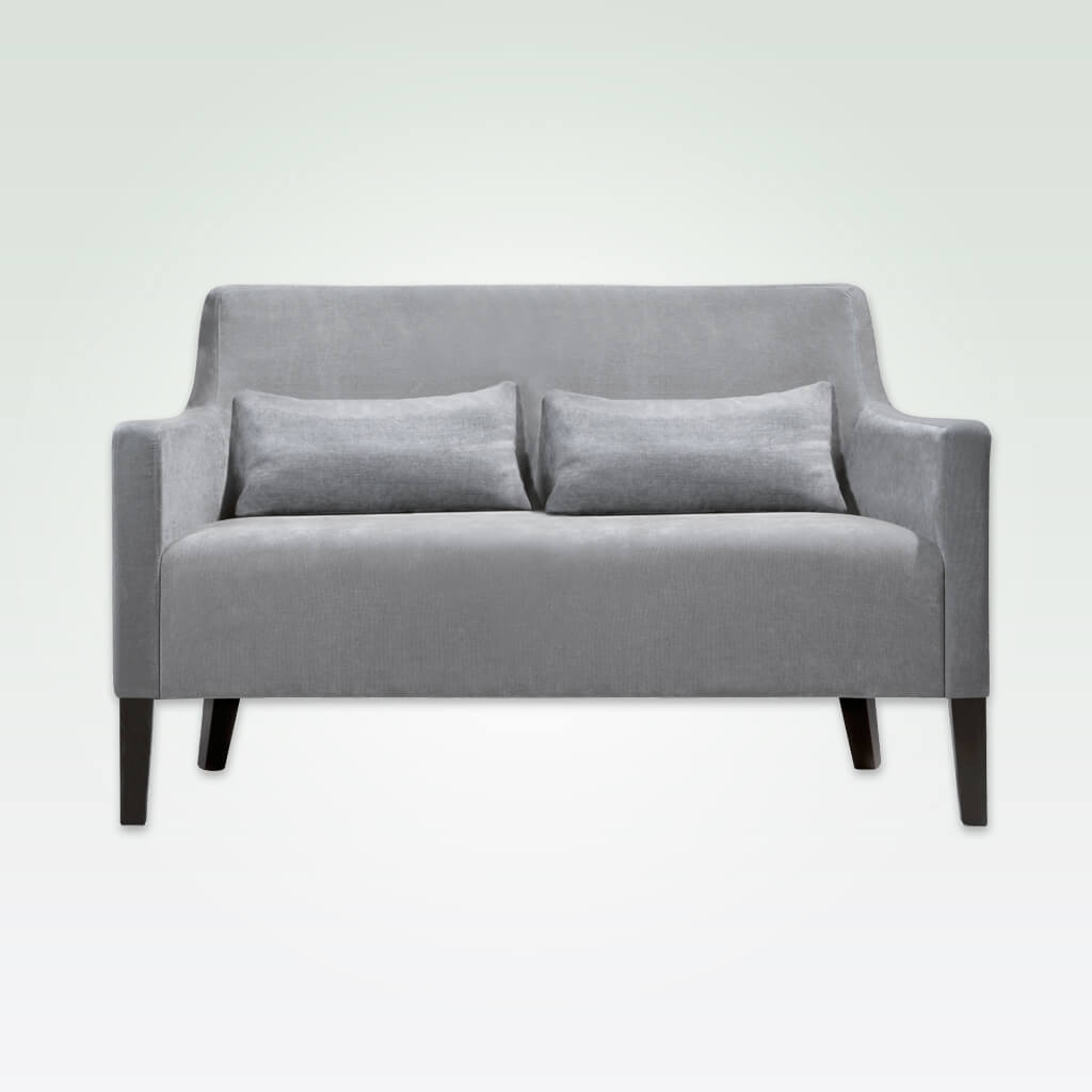 Nancy light grey velvet sofa with deep seat and removable cushions DL01 SF2