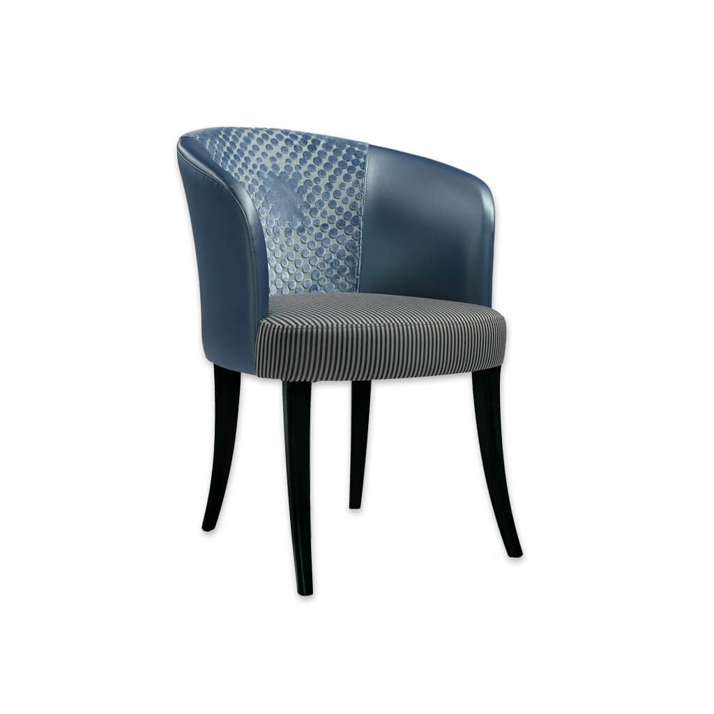 Nerina Navy Blue Dining Chair with Curved Backrest and Padded Seat 3083 RC1 - Designer Image