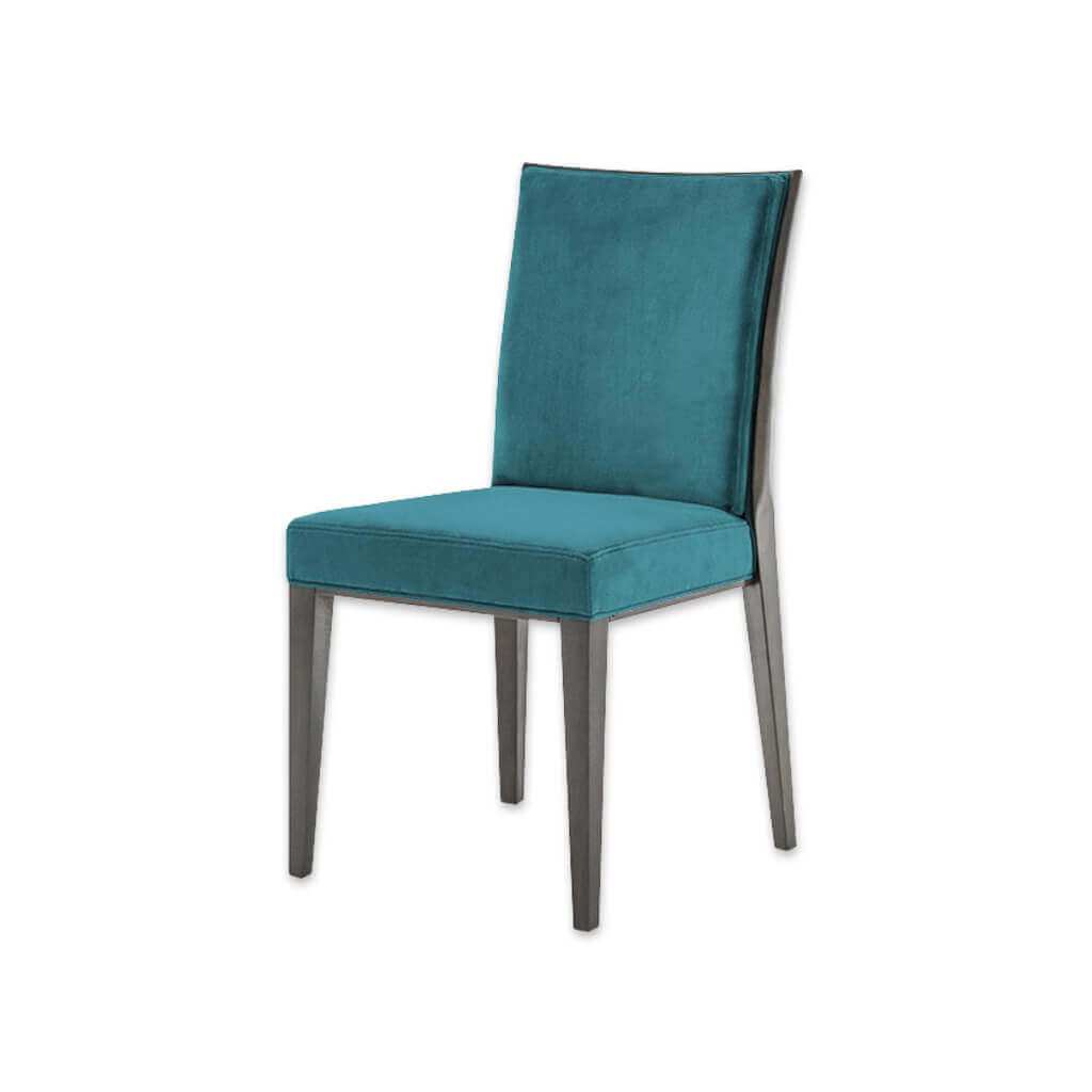 Newport Purple Dining Chair Fully upholstered Seat with Tapered Wooden legs Split Fabric and Seam Detail 3061 RC1 - Designers Image