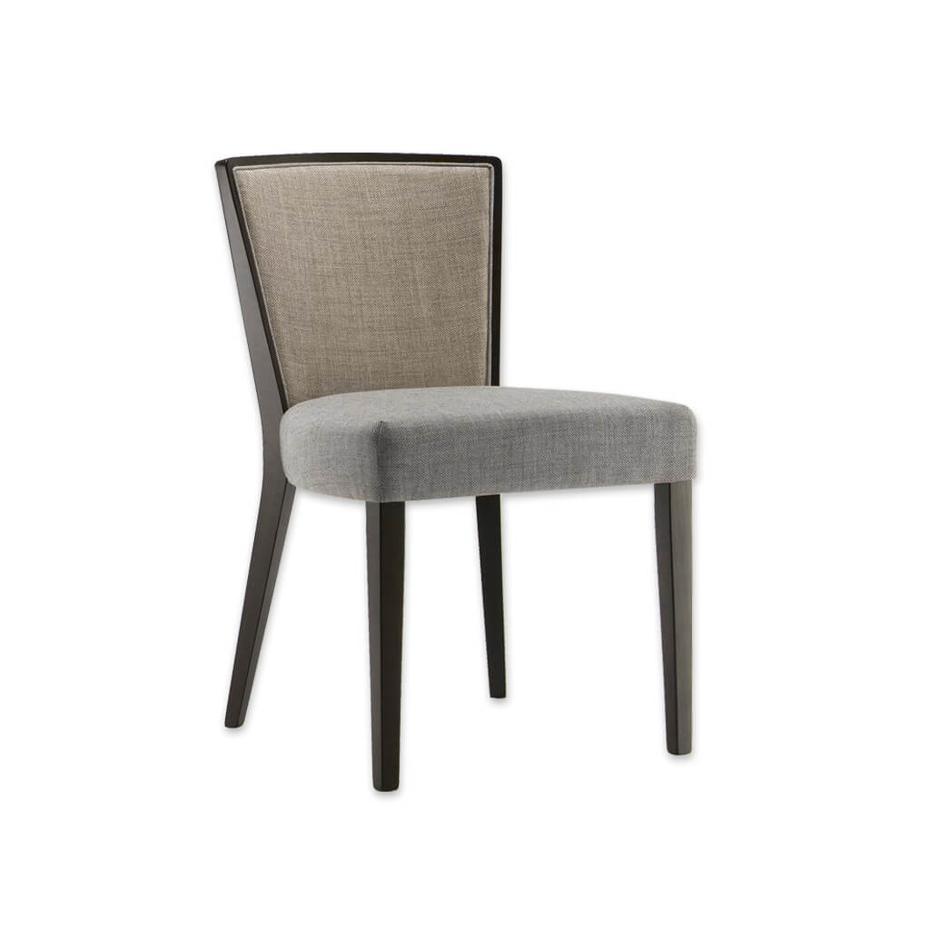 Octavia Light Grey Dining Chair with Curved Show Wood Back 3048 RC1 - Designers Image