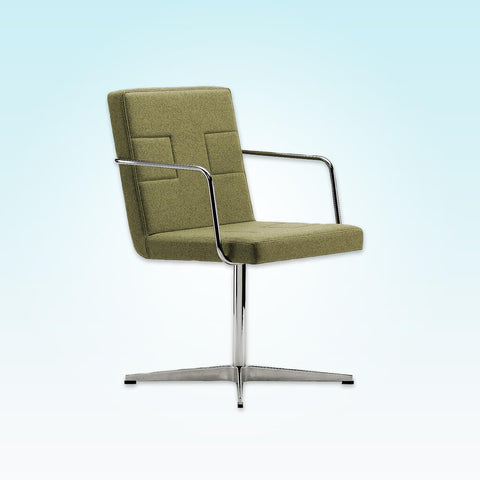 Ohio Upholstered Lime Green Desk Chair with Metal Armrests with Metal Star Base and Back Detail 5017 DC1