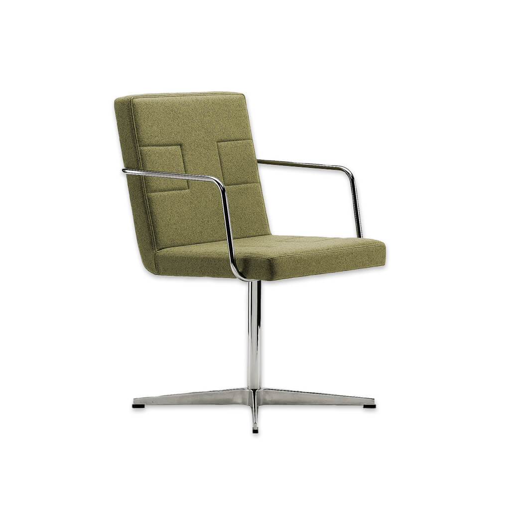 Ohio Upholstered Lime Green Desk Chair with Metal Armrests with Metal Star Base and Back Detail 5017 DC1 - Designers Image